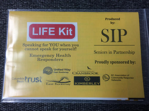 City of cranbrook city of cranbrook to help the united way east kootenay has spearheaded seniors in partnership life kits which contain important and valuable contact medical allergy solutioingenieria Image collections